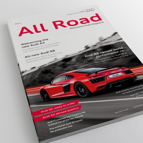 Audi Magazine Print Design