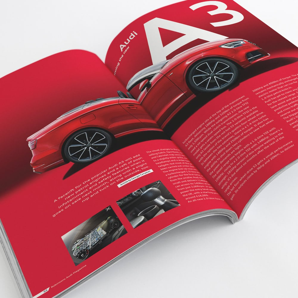 audi magazine design art direction