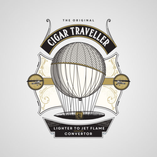cigar traveller brand design
