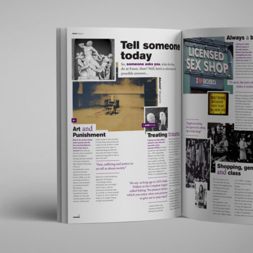university of Essex editorial design
