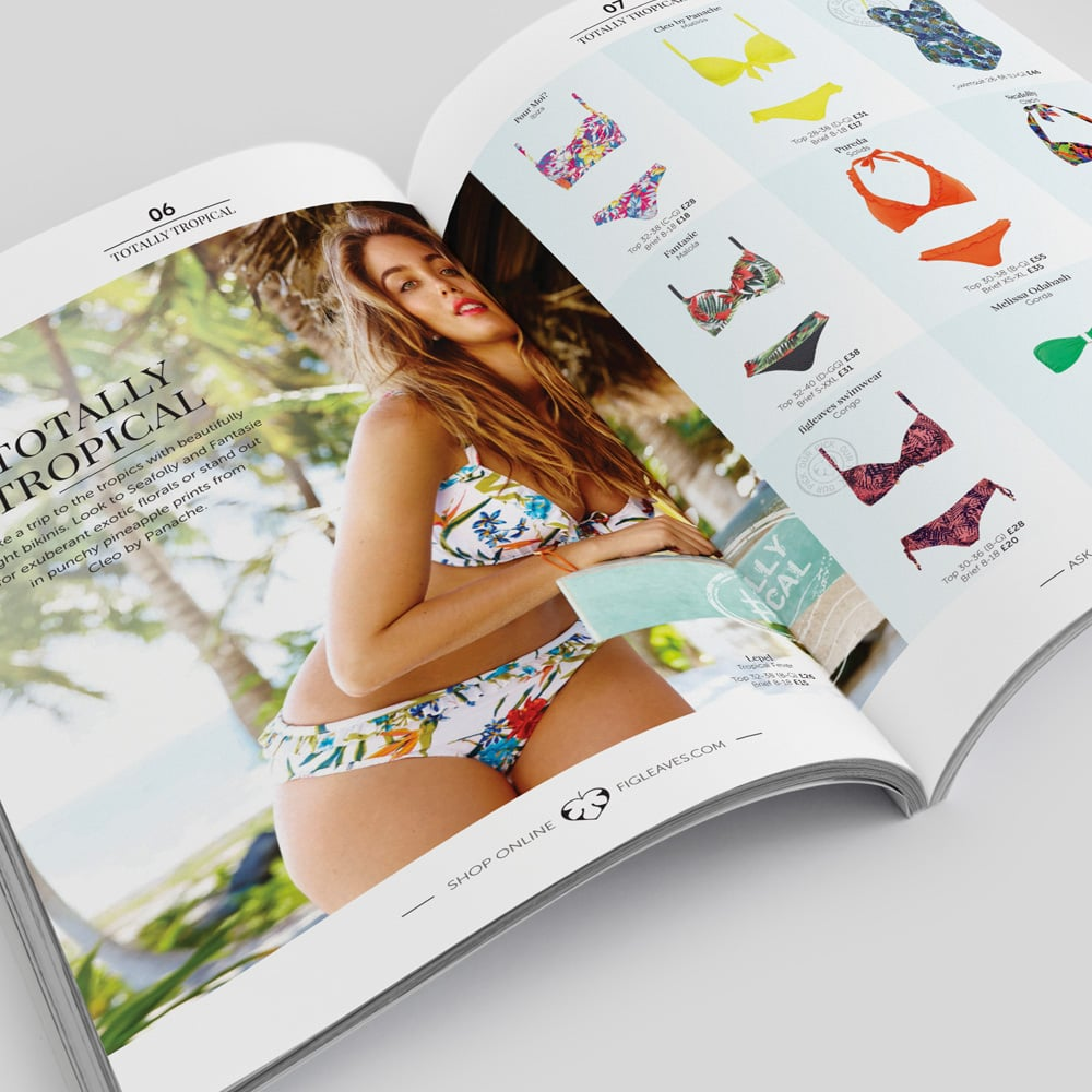 swimwear magazine design