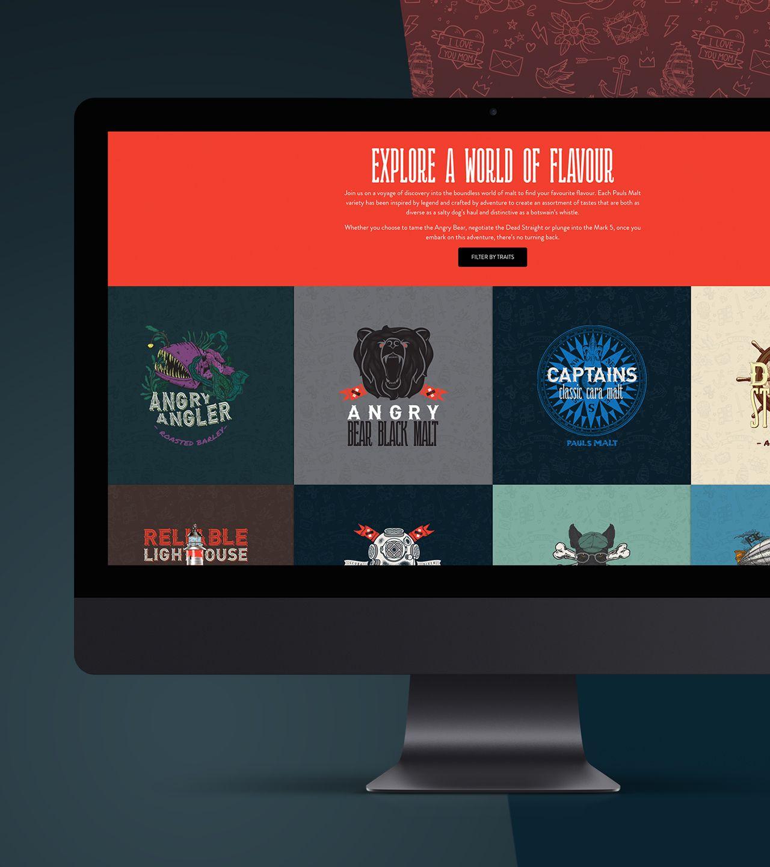 Pauls malt website screenshot