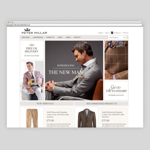 peter millar website design