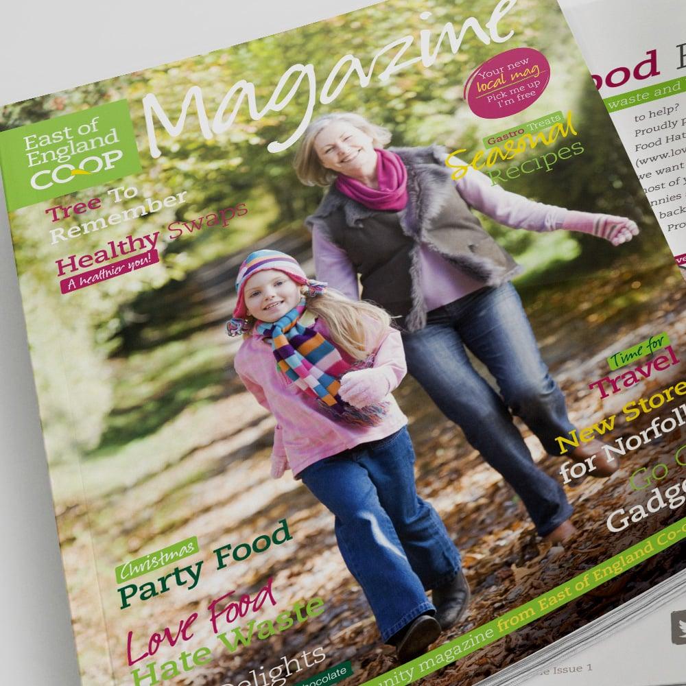 Co-op magazine design