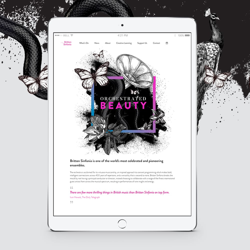 britten sinfonia website design