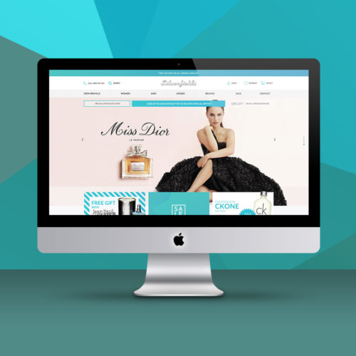 Cosmetics website design