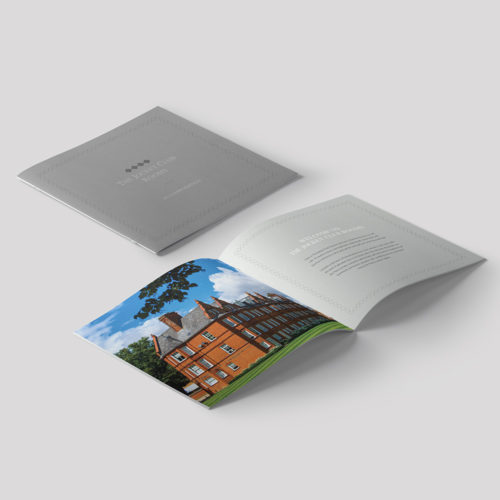 jockey club rooms brochure design