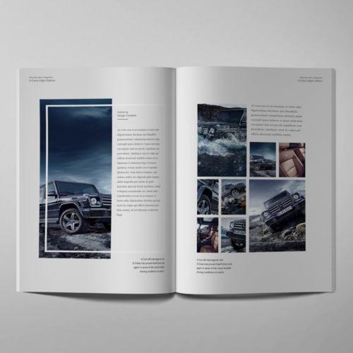 mercedes benz publication design