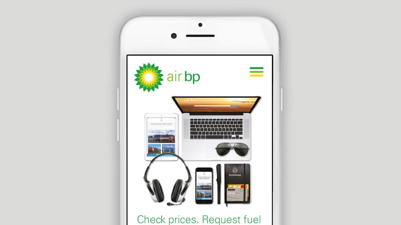 Air BP Responsive Website Design Mobile