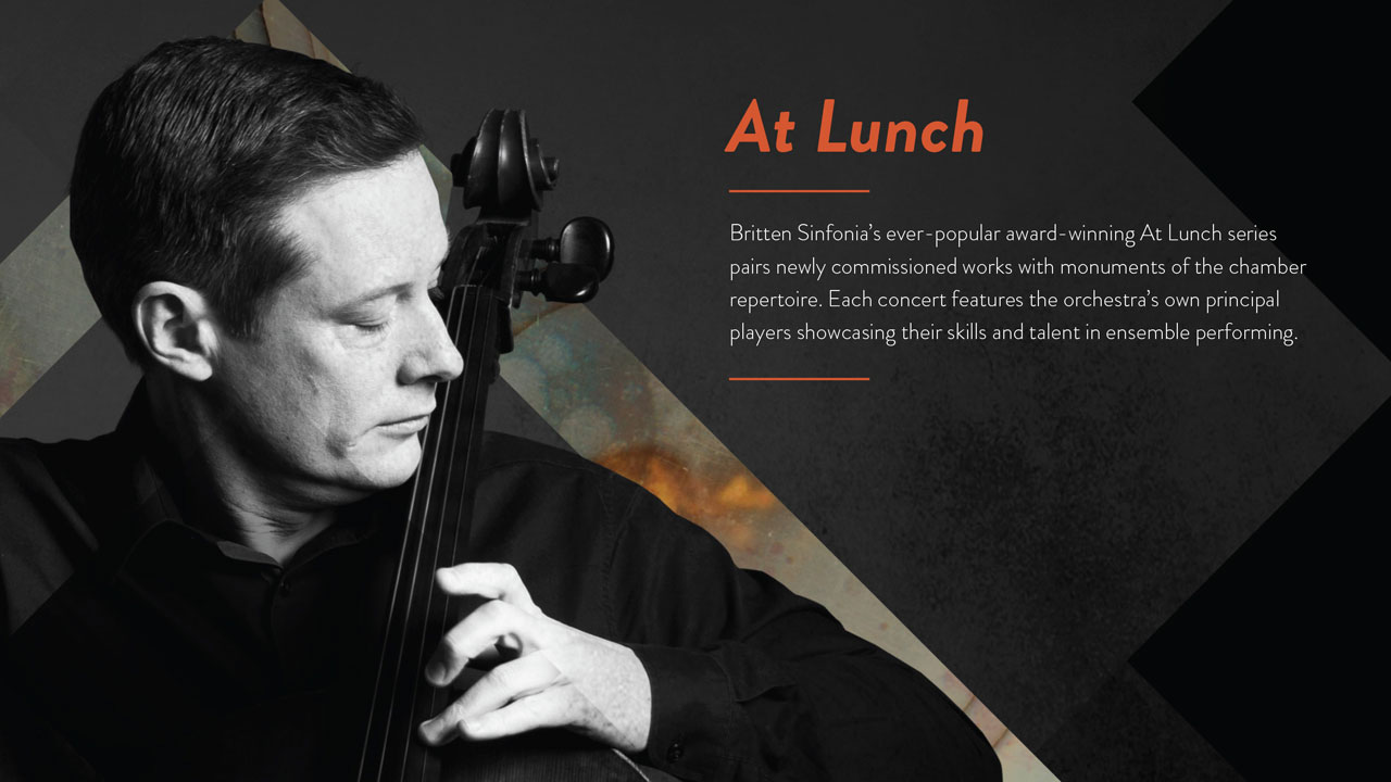 Britten Sinfonia at lunch series website banner design