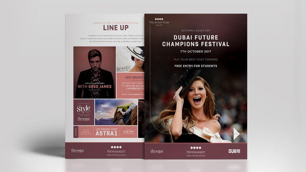 Dubai Future Champions Festival Double Sided Flyer