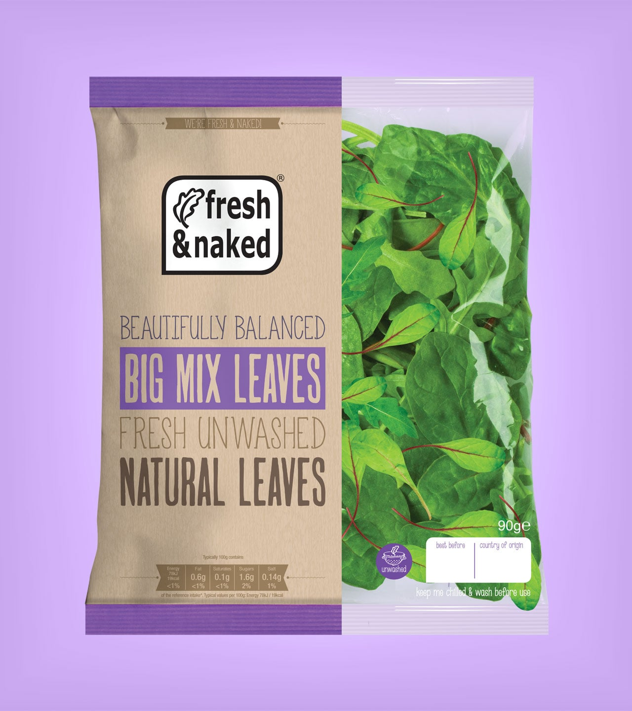 Gs Fresh Packaging Design Big Mix Leaves Packet Promotional