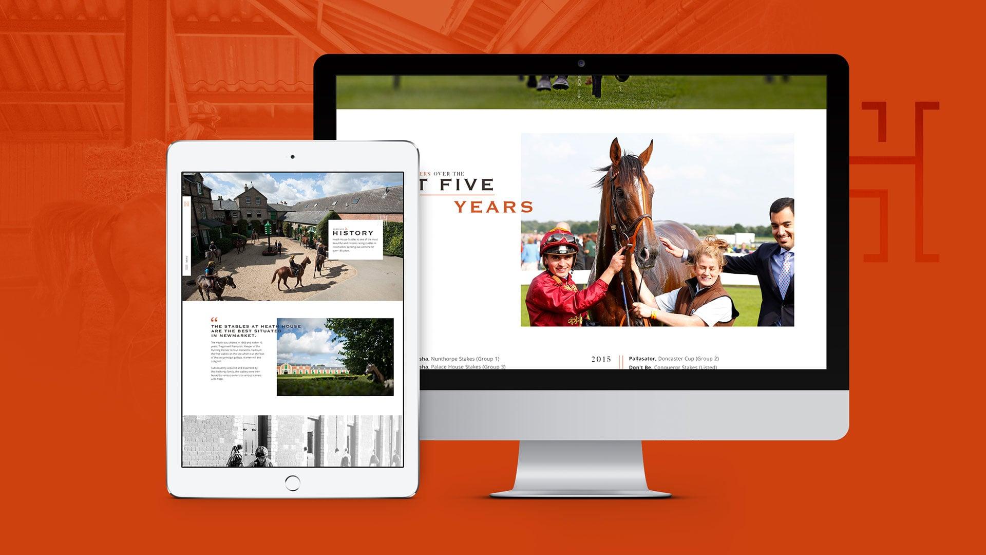 Heath House Website Digital Design Desktop Tablet