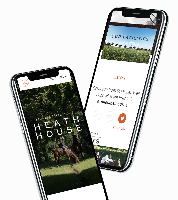 Heath House mobile website design iphone mockup