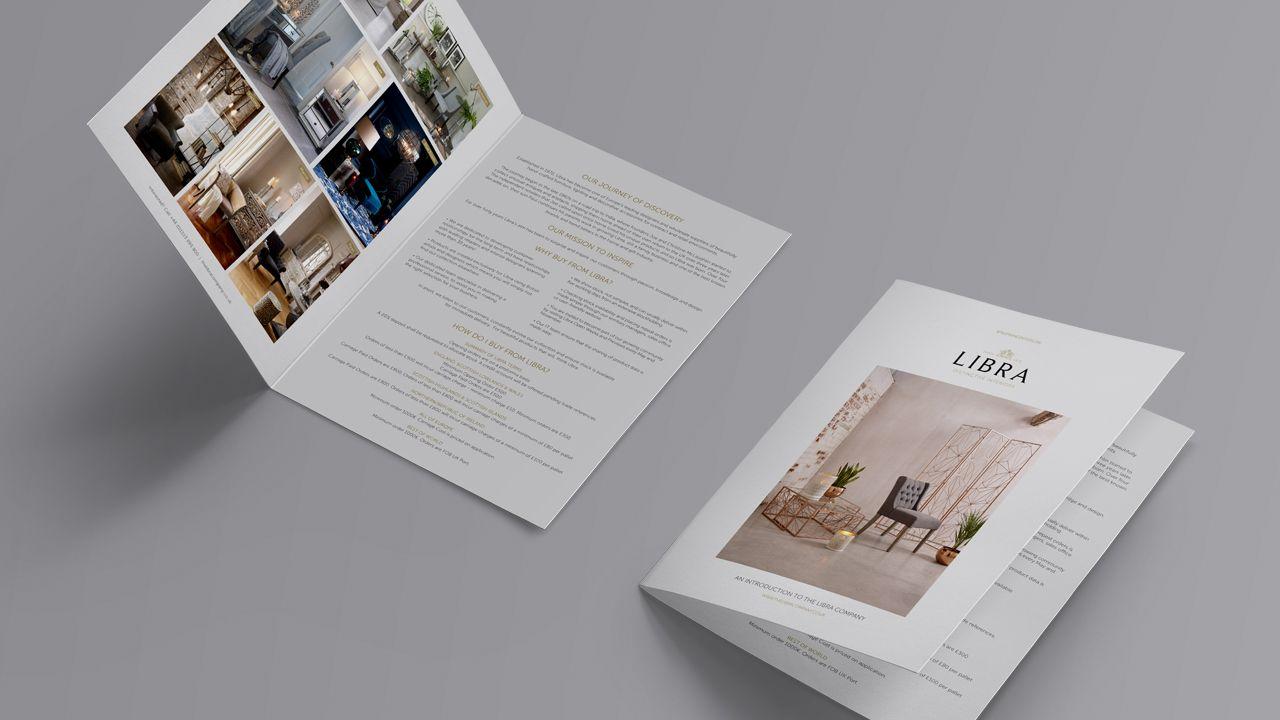Libra bifold brochure design