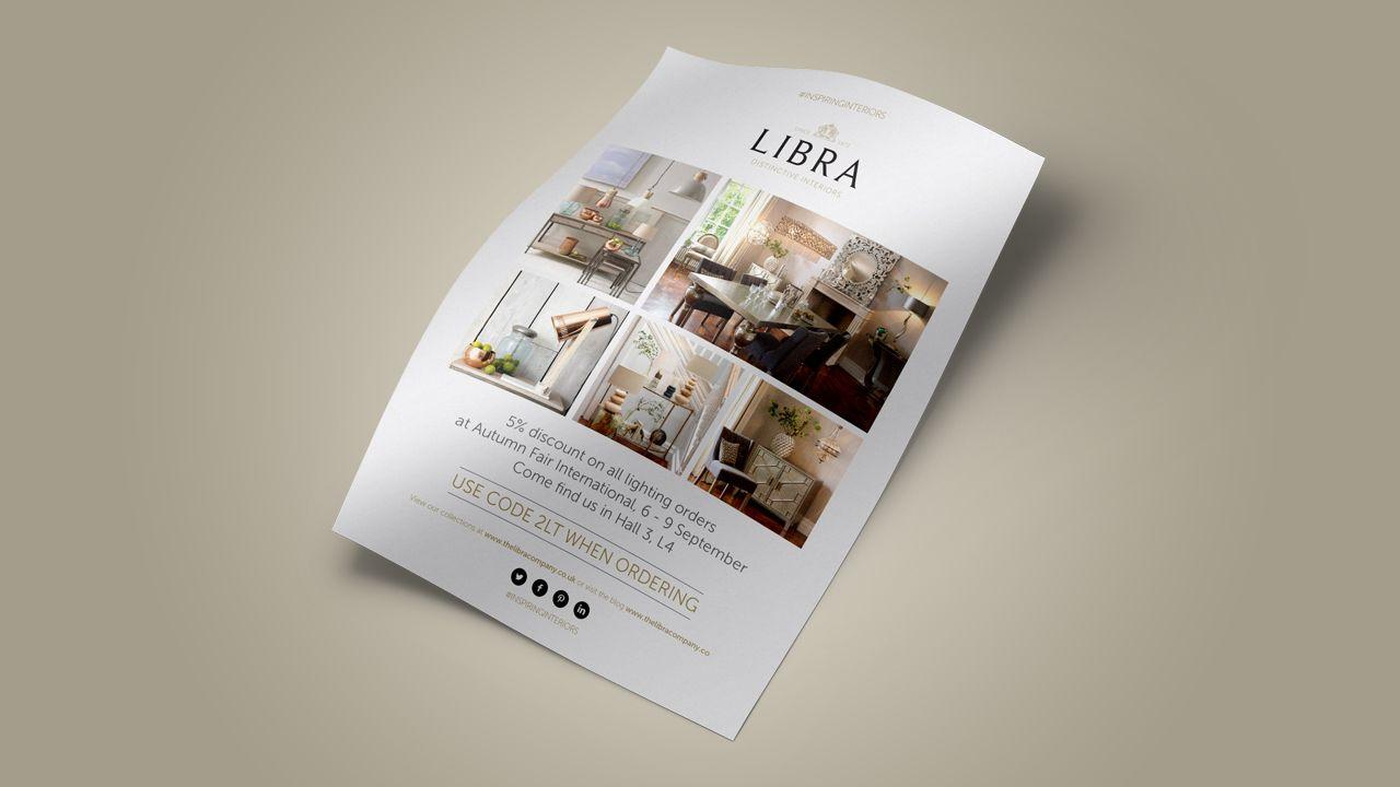 Libra branding leaflet design