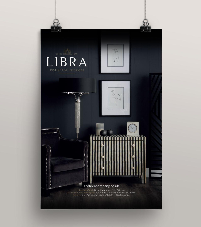 Libra branding poster design