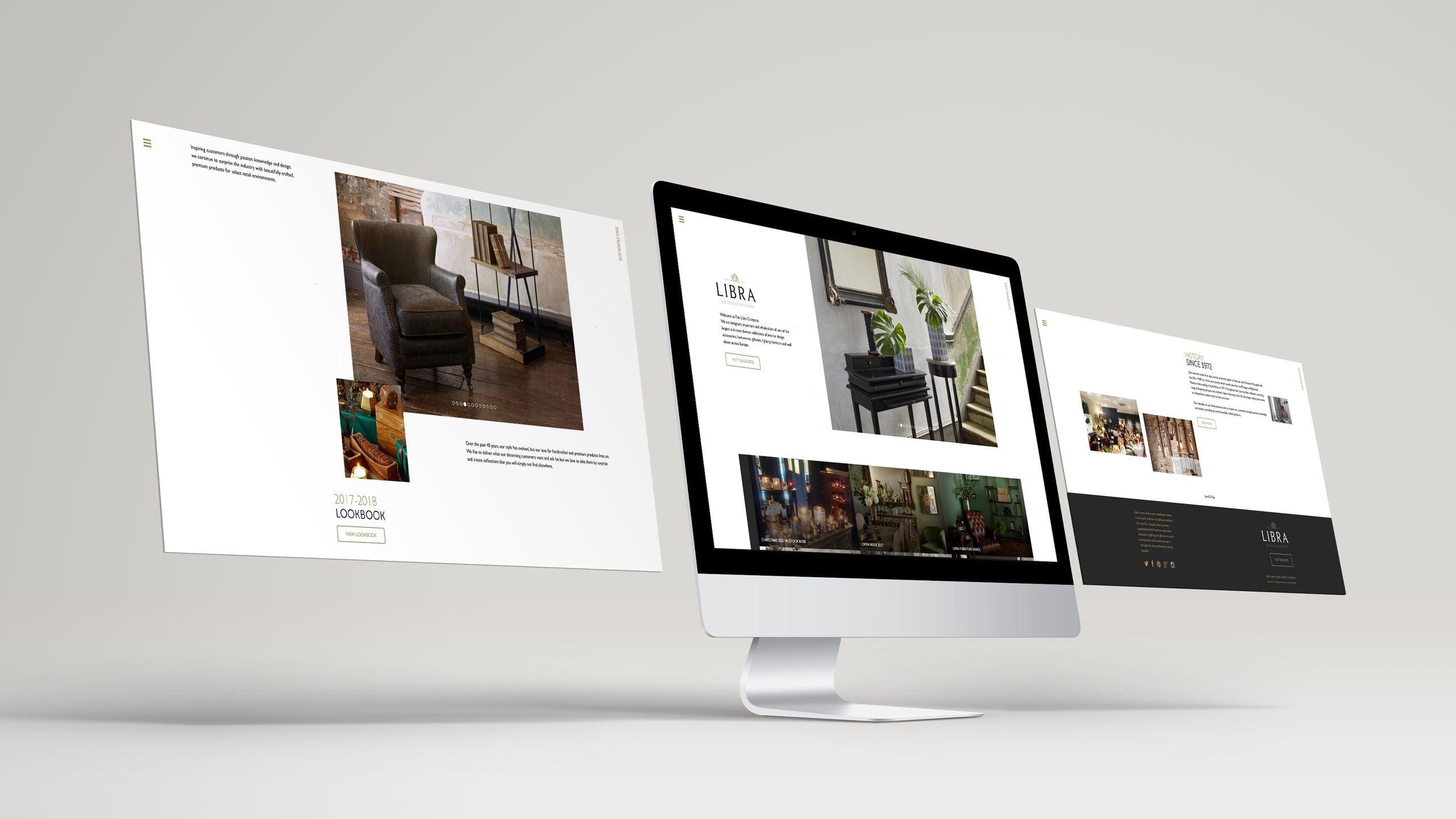 Libra website design mockup