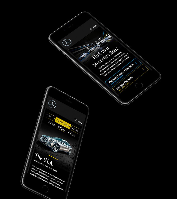 Mercedes Benz Landing Page Design iPhone Mockup Mobile