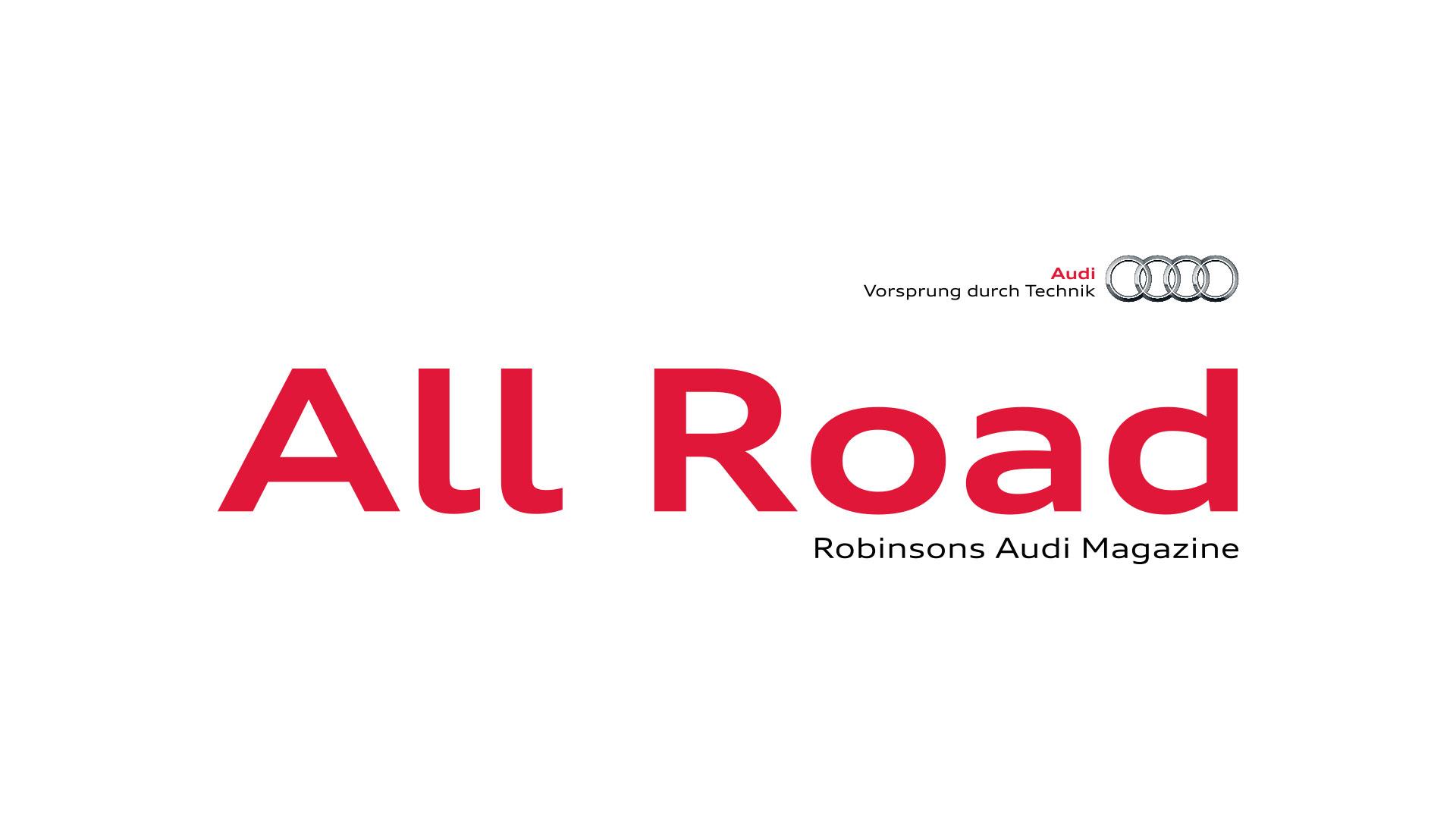 Robinsons Audi Magazine allroad logo print design
