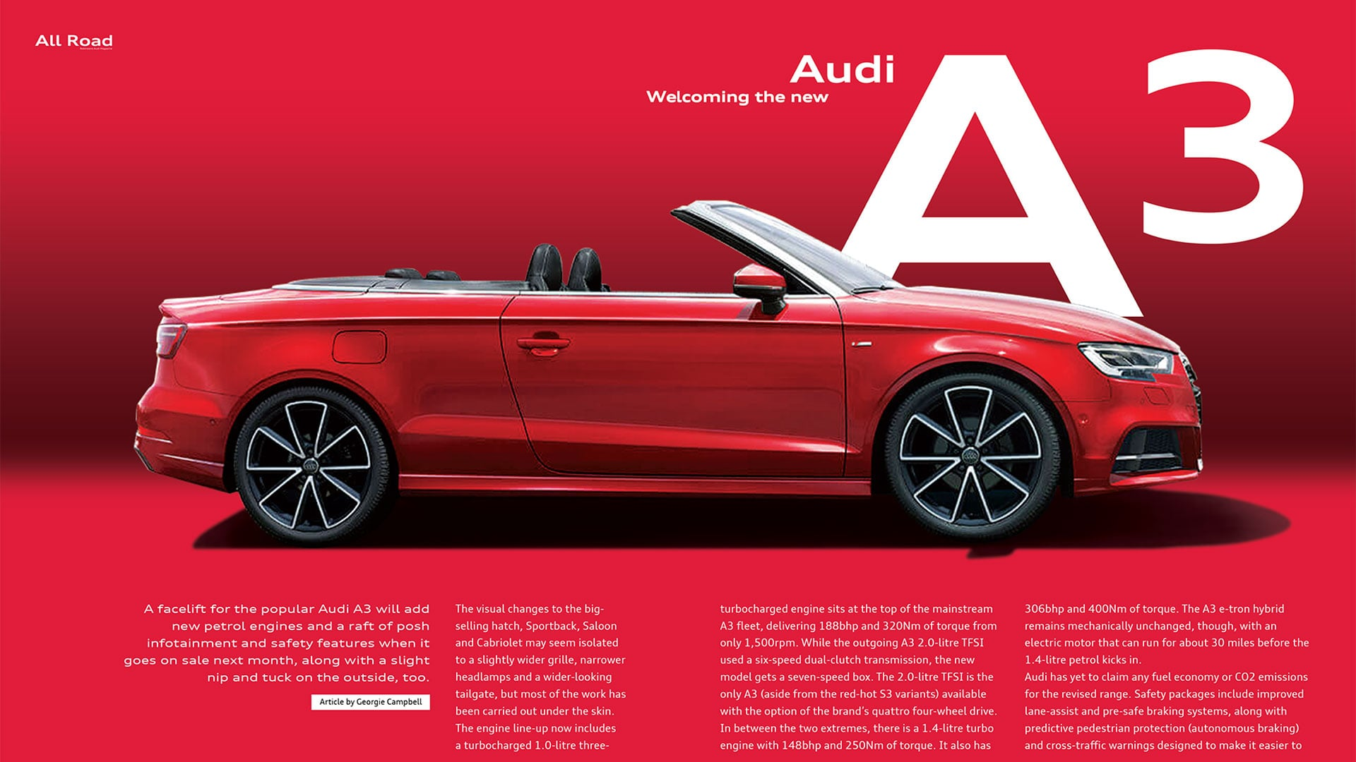 Robinsons Audi magazine print design spread