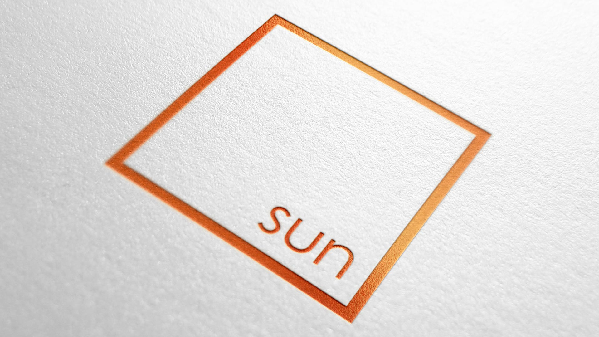 Sunsquare logo mock up print design