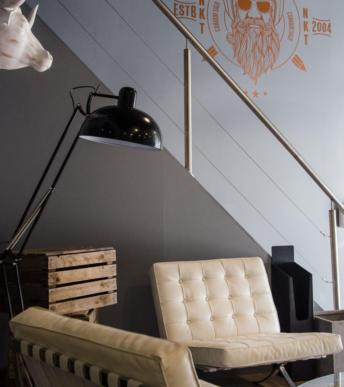 Cubiq design office reception area