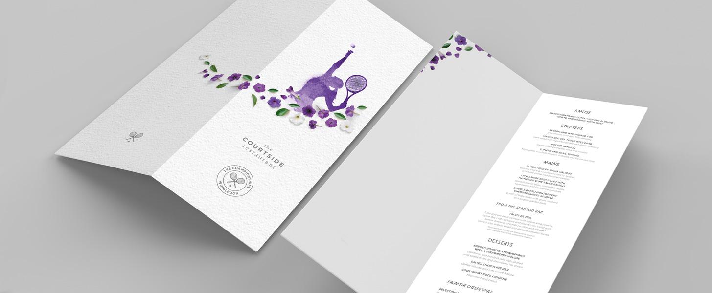 Wimbledon menu design