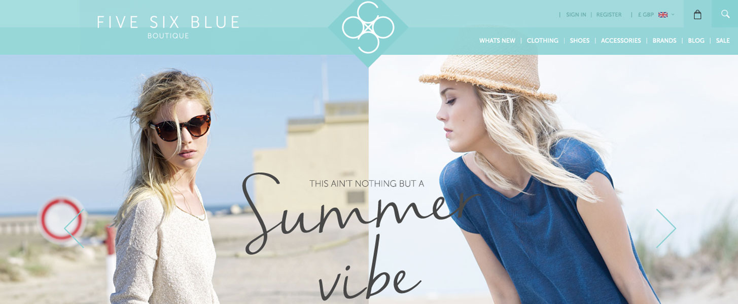 five six blue website design by cubiq